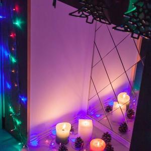 Наш свечной камин в новогоднем великолепии!