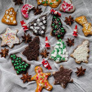Новогоднее домашнее печенье