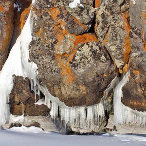 Прибрежные скалы с бородой, Байкал