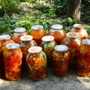 """Активно продолжается """"борьба"""" с урожаем.... Плюс к этому 17 литров кетчупа..."""