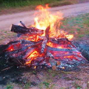 Чарующее пламя костра