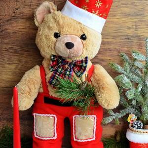 Мишка в праздничном костюме
