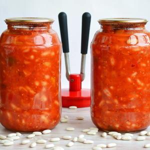 Фасоль в томатной заливке (томаты Сто пудов от Аэлиты)