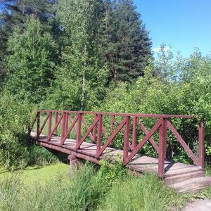 Мост на дачном озере))