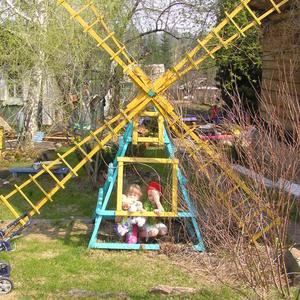 Мельница - пергола и игральный домик