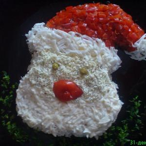 Салат Санта Клаус
