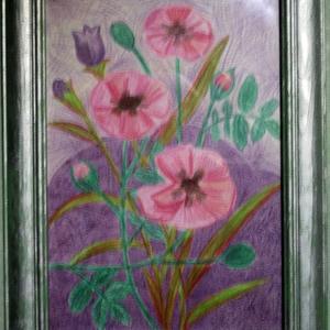 Рисуем дачные цветы