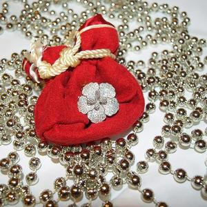 Рождественский подарок - колечко из серебра с россыпью из мелких фианитов