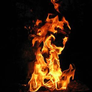 Огненный танец в ночи
