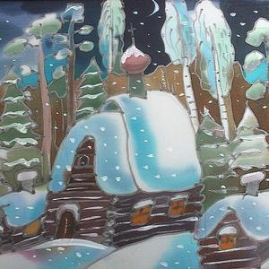 Подарок на Рождество от художницы Елены из Санкт-Петербурга ( Батик)
