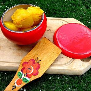 В оранжевом горшочке и картошечка вкусней