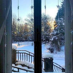 Окно в первое утро Нового 2019 года