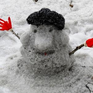 Снега хватило только на это...
