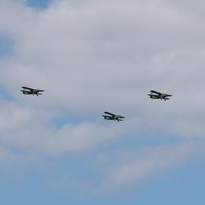 Ретро-самолеты над нашей дачей