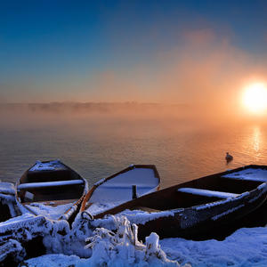 Морозный восход