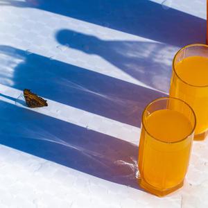 В жаркий день меня спасёт бутылка лимонадная. От освежающих напитков даже тень прохладная