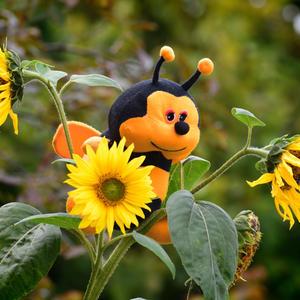 Пчёлка трудится весь день и, поверьте, ей не лень
