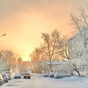 Утренний луч сквозь морозную мглу