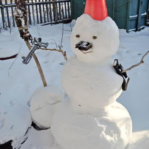 Снеговик - спецназовец