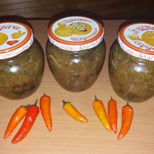 Летняя заготовка с оранжевыми перцами