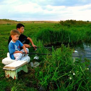 Внучата на рыбалке