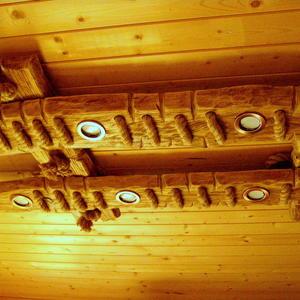 Своими руками. Люстра (потолочный светильник) для деревянного дома