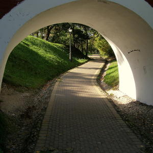 Дорога под мостом