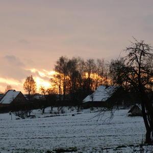 Зимнее утро в деревне