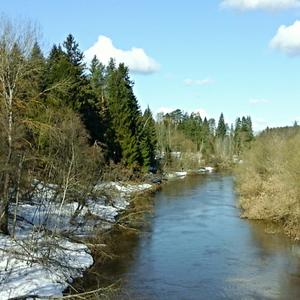 Бежит река, шумит река...