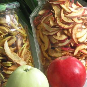 Сушеные яблочки вместо семечек!
