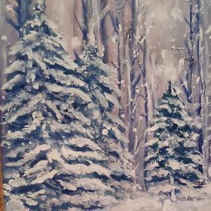 Если мне не хватает зимы, я её рисую)