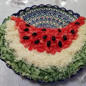 Салат арбузная долька мммм)))