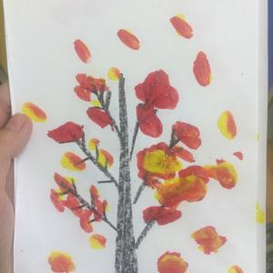 Осень в исполнении дочки =)