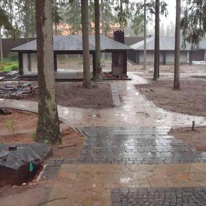 Беседка для дождливой погоды