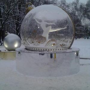 Уличный новогодний шар