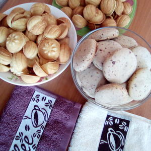 Орешки - вкус детства, печенье с шоколадной крошкой