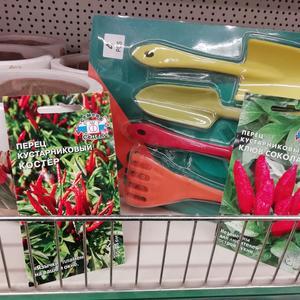 Есть горшочки. Есть садовый инструмент. Посажу-ка я перчинки от СеДеК!