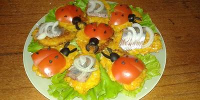Удачно-дачные бутерброды на овощной подушке