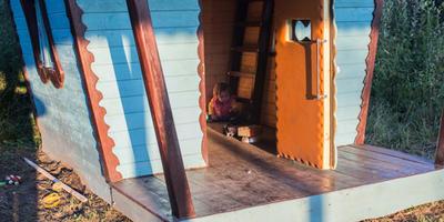 Домик для детей - играй в тепле и зимой, и летом