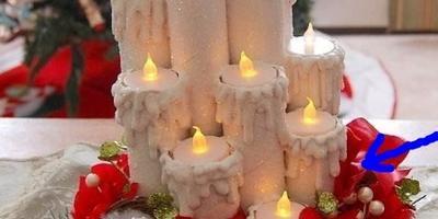 Помогите определить, из чего сделана рождественская поделка