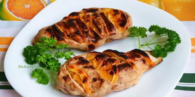 Куриная грудка барбекю с апельсинами