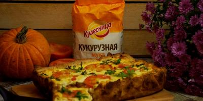 Кукурузный пирог с сыром