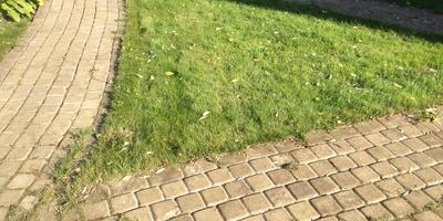 Как поступить с треугольником на газоне?