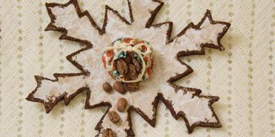 """Новогодний мастер-класс: снежинка """"Кофе"""""""