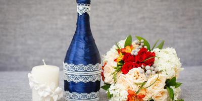 Декор для бутылки
