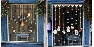 Украшения на окна к Новому году: 13 идей для праздничного настроения