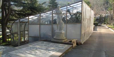 Зимнее укрытие мексиканского сада