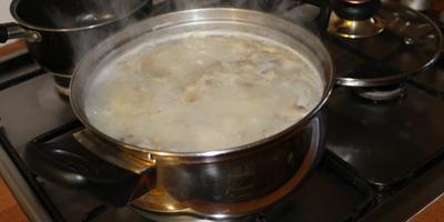 Готовим диетический сырный суп с грибами