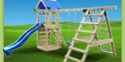 Как построить деревянный игровой комплекс для детей на даче?