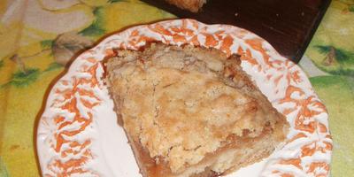 Трехшаговый пирог с яблоками